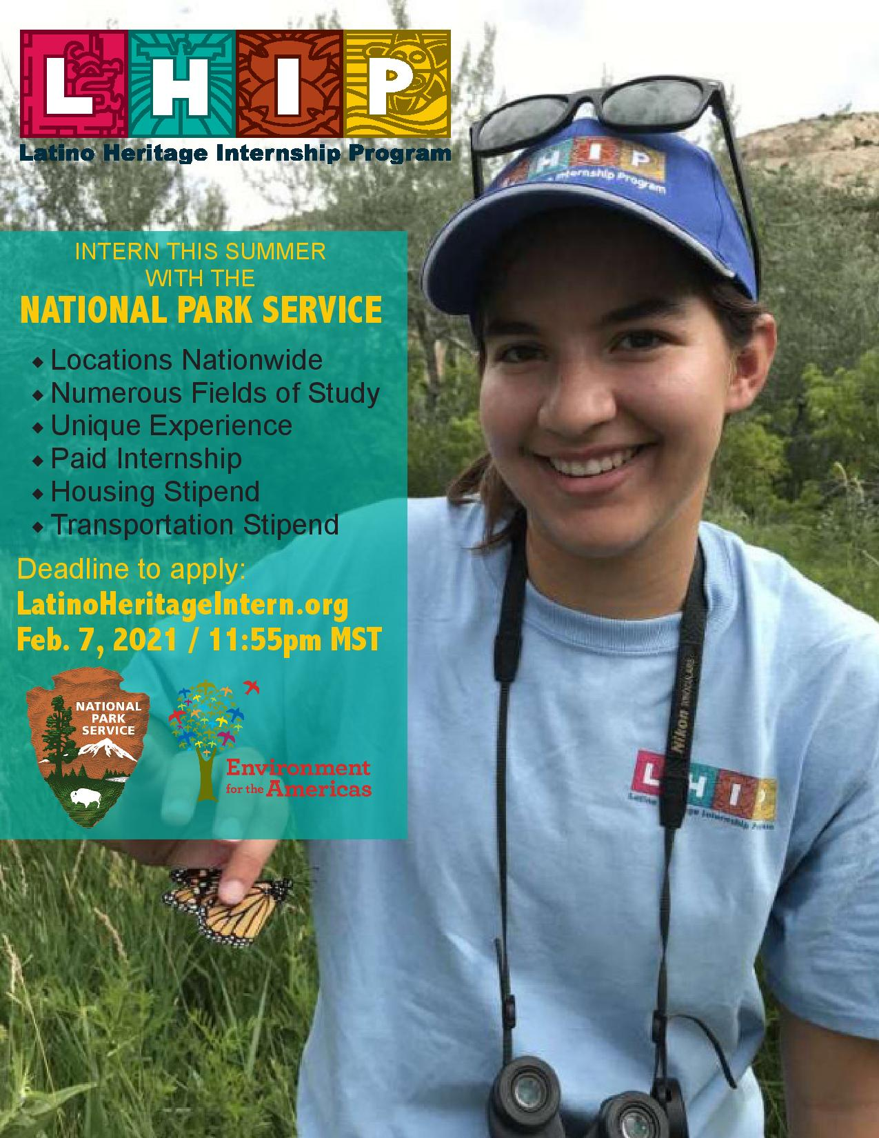 National Park Internship, click for more information!